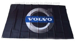 Form-dekoratives Polyester-Gewebe-fördernde Bildschirm-Drucken-Markierungsfahnen-Hintergrund-Wand-Fenster-Fahne