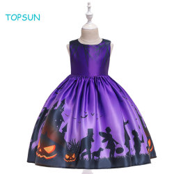 유아 아이들 당 공주 여자 아기 복장 장관 꽃 복장이 자주색 긴 Halloween 의복에 의하여 생성한다 Dress Kids