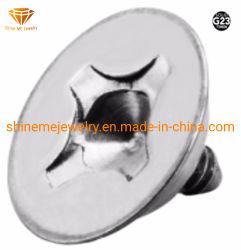Top kwaliteit Sieraden RVS Titainium Body Piercings Circle Microdermal Tp1918