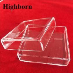 溶けることのための透過正方形の無水ケイ酸の水晶ガラスの皿