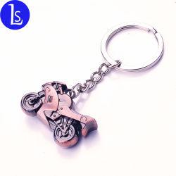 주문 금속은 반지를 가진 모터바이크 Keychain 기관자전차 열쇠 고리를 만든다