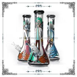 Copo de vidro de desenho mão Hookah fumar estoque do tubo de água