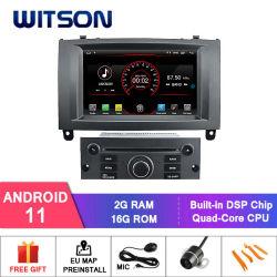 Peugeot 407용 Witson 쿼드 코어 Android 11 차량용 DVD GPS (실버 프레임) 1080p HD 비디오