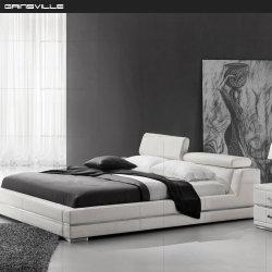 製造の米国式の寝室の家具の革ベッドはGc1685をセットする