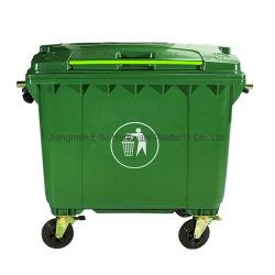 660L Skip van de Vuilnisbak van de Grootte van de Douane van het embleem de Milieuvriendelijke Grote Grote Openlucht Rolling Beweegbare Plastic Container van het Afval met Wielen