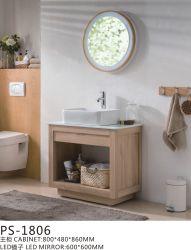 PVC Paint Free aan de muur gemonteerd Type badkamermeubilair met kunstzinnige Stone Top-keramisch plateau en eenvoudige spiegel