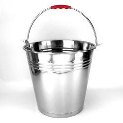 4L cucharas de metal con mango de acero inoxidable 410 Cubo de Agua cubeta de acero inoxidable