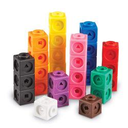 Пластиковый Сортировка небольшой куб блоки игрушки, подсчета площади здание игрушек по вопросам образования обучение игрушка