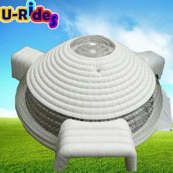 98ft round Big White lumière LED gonflable tente pour afficher ou de la salle avec trois porte
