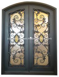 Usado Exterior de ferro forjado portas de vidro de Entrada frontal para segurança