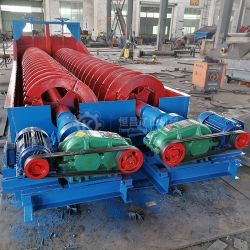 케냐 망간 광물처리 장비 클레이 샌드 그라벨 세척 기계 이중 나선형 나사 Log Washer