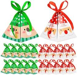크리스마스 장식용 캔디 박스, 쿠키, 맛있는 크리스마스 캔디 가방 산타클로스 선물 박스 축제 크리스마스 신년 크리스마스를 위한 선물 포장