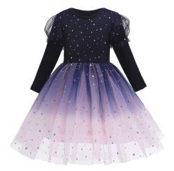 فتاة أوروبية وأمريكية اللباس 2020 الأطفال في الخريف والشتاء الجديد الأميرة عائشة اللباس الطويل الزنجبيل طويل الأكمام اللباس تولي ليلة