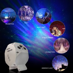 Reservar a laser com LED Projector Crepúsculo Nebula Cloud Projector de luz nocturna para salas de jogos Home Theater Ambiance Piscina
