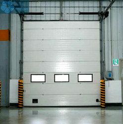 Panneaux sandwich porte basculante en Coupe du châssis en acier aluminium porte de garage industrielle de la sécurité sandwich en polyuréthane de levage PU Frais généraux de sécurité à isolation thermique