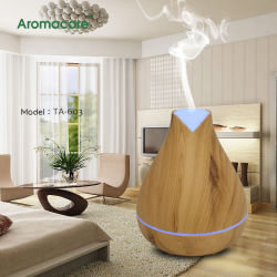 Arôme ultrasonique Aromacare du grain du bois d'huile essentielle Diffuseur de voiture