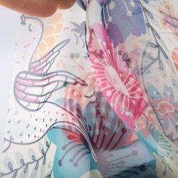 Design a righe satinate in tessuto in chiffon poliestere