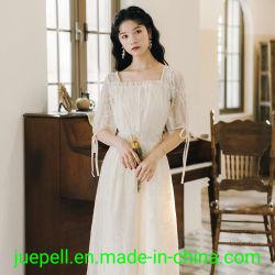Новейшие оптовой настроить элегантный белый кружевной Vintage женских дамы в платье