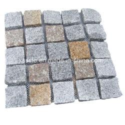 Le granit Paving Stone sur Mesh pour l'extérieur