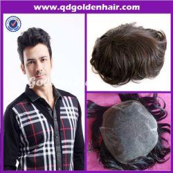 Cabelo dourado virgem de alta qualidade Remi cutícula do cabelo humano pedaço de cabelo