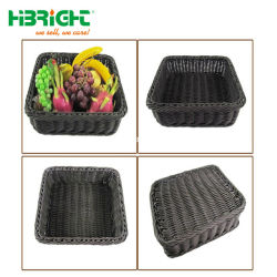 Memorizzare il cestino di lavanderia di vimini grigio tessuto plastica per visualizzazione