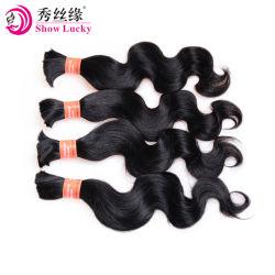 9Un grade Fashion Cheveux humains organisme péruvien en vrac femmes ondulées Hair Extension pour le tressage
