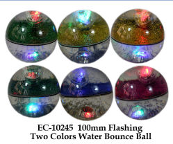 100mm Flashing Two Colors Water Bounce Ball