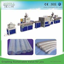 Espulsione di rinforzo intrecciata fibra molle di plastica del tubo/tubo del tubo del giardino del PVC che fa macchina