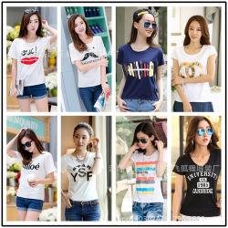 Nuevo estilo de muchos colores Dama T-Shirt de stock de prendas de vestir (FF626)