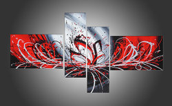 Canvas Craft Wall Art에 Picture의 손으로 그리는 Oil Painting Abstract Group