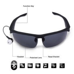 Casque sans fil Bluetooth Smart Lunettes de soleil lunettes polarisées pour casque, répondre à un appel téléphonique