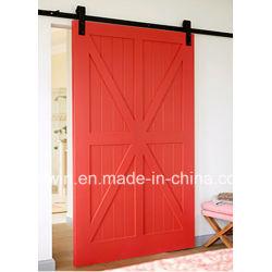 Doppio portello scorrevole della cucina di stile moderno di modo con il legno di pino di colore rosso