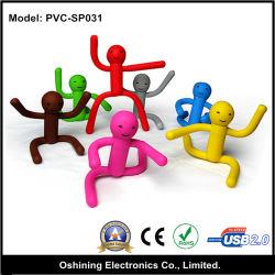 인간 실리콘 USB 플래시 메모리 드라이브(PVC-SP031)