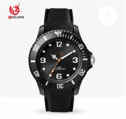 偶然の簡単な様式のシリコーンストラップの人は腕時計#V482を遊ばす