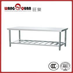 Cocina de acero inoxidable mesa de trabajo de diseño simple