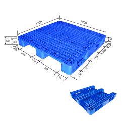 De hygiënische Medische Vlotte Hoogste Blauwe Plastic Pallet van het Gebruik met HDPE
