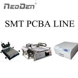 مجموعة لوحة دوائر SMT خط الإنتاج مع آلة الالتقاط والآلة، طابعة لصق اللحام، فرن إعادة التدفق