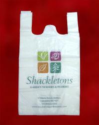 حقيبة على شكل حرف T مطبوعة على PE مع شهادة ISO