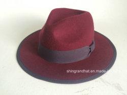 高品質のウールのフェルトの女性の帽子