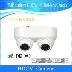 Dahua 2MP Starlight Dual-Lens Hdcvi IR Caméra CCTV de sécurité (HAC-HDW2241M-E2)
