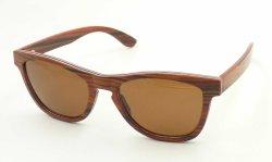 Fqw161259 Ultra-Thin óculos de sol de madeira dentro da liga de alumínio