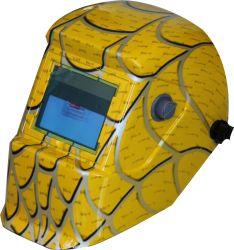Желтый Spider Web солнечная энергия автоматического затемнения сварки шлем
