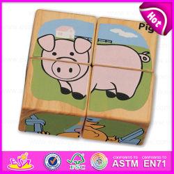 4PC деревянные Custom кубических 3D-головоломки Головоломки для детей учиться на английском языке слова W14f044