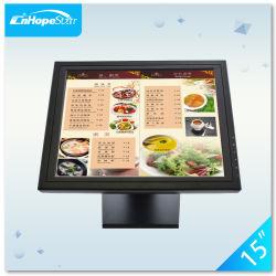 Desktop POS Use 15 polegadas LCD monitores de tela sensível ao toque resistente com suporte profissional