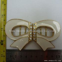 La conception de l'émail Bowknot forme Lady Metal Rhinestone pour vêtement Boucle de ceinture