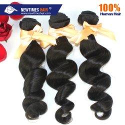 質の良いモンゴル自然の波人間の毛は作り出す