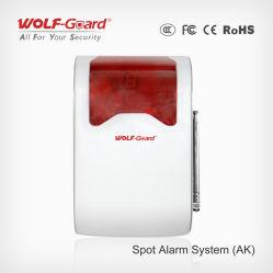 Sirène sans fil avec Flash système d'alarme sans fil Mini système d'alarme Spot 12V Feu stroboscopique sirène sans fil avec 120dB