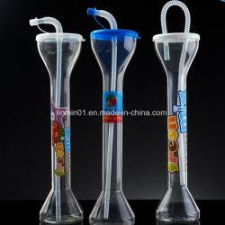 승진 선물을%s 주문을 받아서 만들어진 명확한 플라스틱 당 야드 마시는 컵