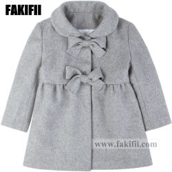 إشارة نمو أطفال مظهر للأطفال لباس داخليّ شتاء بنت رماديّ صوف طبقة جذّابة طفلة لباس