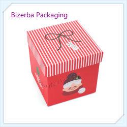 Professional Logo personnalisé Papier rigide boîte cadeau de Noël